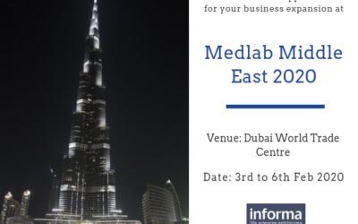NEXT!! 3-6 February 2020 – Medlab Dubai 2020